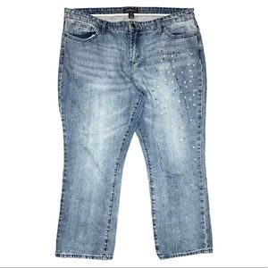 Who What Wear Pearl & Stud Accent Jeans